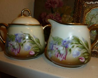 Vintage Creamer And Sugar Bowl Set From Germany