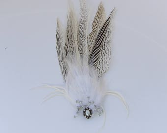 White Lady Amherst Fascinator