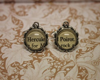 Hercule Poirot Earrings ~ Agatha Christie ~ Death On The Nile ~