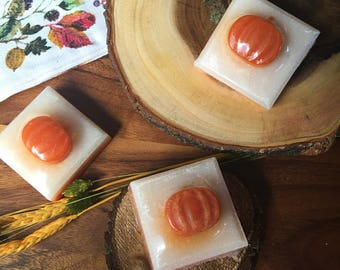 Pumpkin Spice - Natural Soap Handmade Soap Vegan Soap Fall Pumpkin Pie - Valentines Day Gift