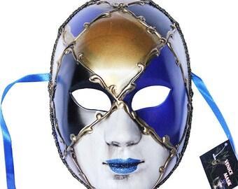Venetian Full Face Mask Masquerade Ball Prom Party Mardi Gras Halloween Costumes Wedding Wall Decoration 11W3A SKU: 7K23