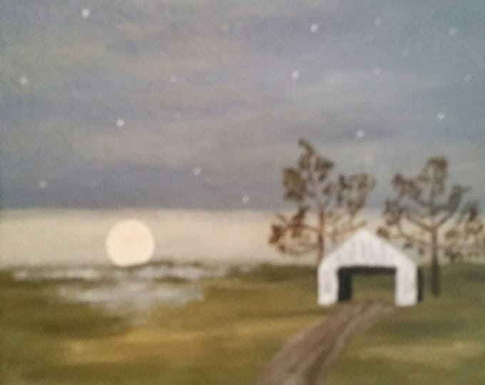 Moonrise  - Oil Painting On Panel Board - Daily Painting