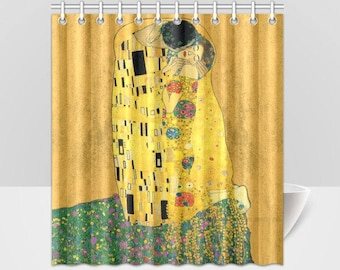 The Kiss Gustav Klimt Vintage Art Shower Curtain