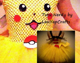 Pikachu Pokemon Cosplay Birthday Halloween Costume Baby Toddler GirlsTutu Dress  LanYapCrafts TutuNerdy
