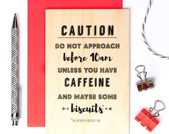 Wooden Birthday Card For Work Colleague; Keepsake Desk Card; Funny Wooden Card; Wood Card; Friendship Card; GC634