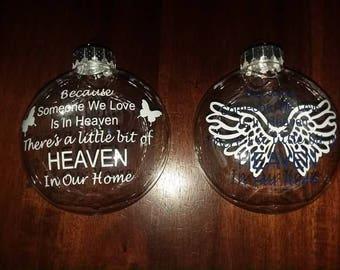 Personalized In Heaven Ornaments