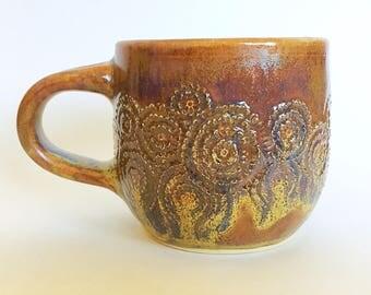 Carved Ceramic Mug (12 oz)