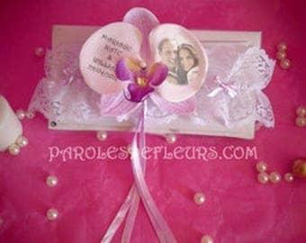 Orchid purple customize garter