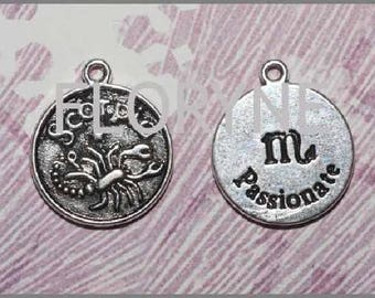 For the Astrology zodiac sign charm: silver metal Scorpion