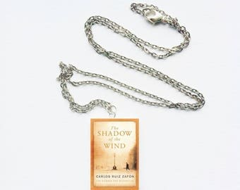 The Shadow of the Wind mini book necklace