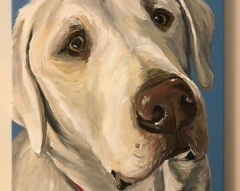 Custom Pet Painting, Custom dog painting, Custom dog portrait, custom pet portraits on canvas, custom pet paintings