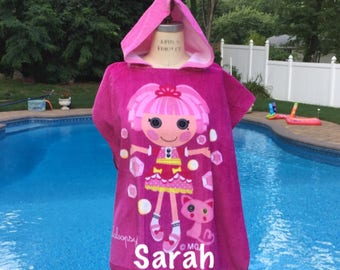 Lalaloopsy Jewel Sparkles Hooded Bath Beach Pool Towel Poncho - Personalized