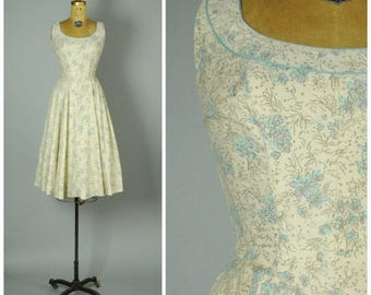 20% SALE Orgeval dress • 1950s cotton sun dress