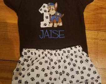 Paw patrol birthday outfit, personalized paw patrol, any character