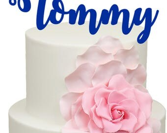 Curly font Personalised name Birthday Acrylic Cake Topper