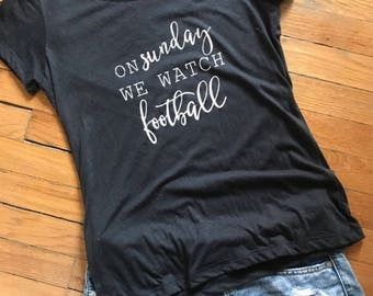 Football Tee // sunday funday // football shirt // college football // nfl // gifts for her // football fan // fall shirt // mean girls