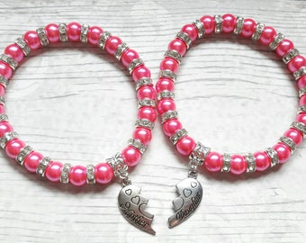 Mother and daughter bracelets, mum jewellery, daughter jewelry, mothers day, matching  bracelets, gifts for mothers, present for daughter