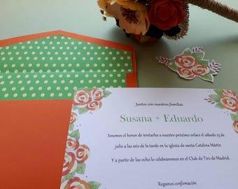 wedding, wedding, invitation suite rustic invitation, garden, country, spring wedding