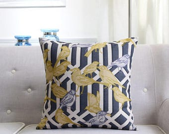 Decorative pillow, cushion cover the birds home throw pillow shell customized size