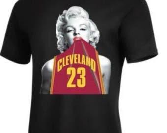Marilyn Monroe #23 Lebron james Cleveland Cavaliers T-Shirt