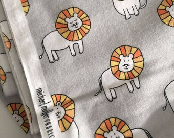 MIchael Miller Flannel Dandy Lions Cotton Fabric