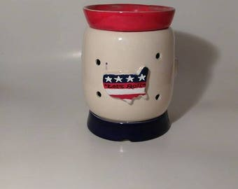 3D Wax Warmer Custom ( Patriotic )