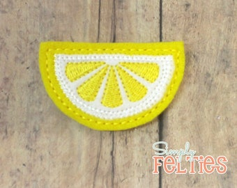 Yellow Lemon Slices Felties--Set of 4 or 6