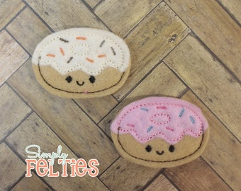 Donut Felties--Set of 4--Your Choice of Color