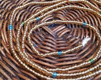 Gold (multi) African Waist beads