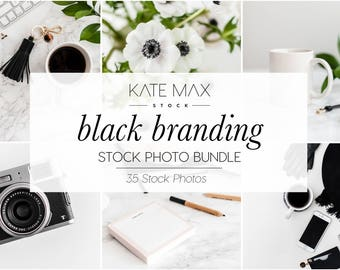 Black Branding Stock Photo Bundle / Styled Stock Photos / 35 KateMaxStock Lifestyle Branding Images for Your Business