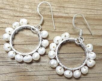 Freshwater Pearl 925 Sterling Silver Earrings