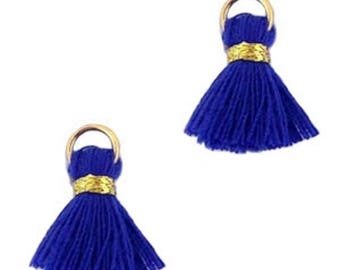 Beaded tassels, tassels, tassel pendant-1.5 cm-3 pcs.-Color selectable (color: Blue 2)