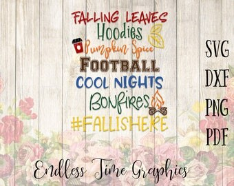 Fall SVG. Fall Cutting File. Pumpkin Spice SVG. Football Svg. Hoodies Cool Nights Svg. Svg Cut File. Autumn Cut File. Fall Shirt Decal. 301