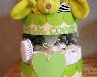 "Mixed ""bundle"" diaper cake"