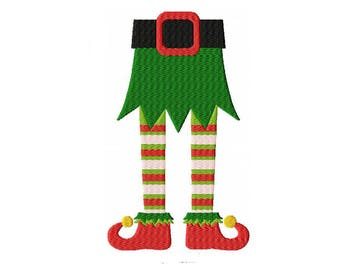 Elf Legs Machine Embroidery Digital Download