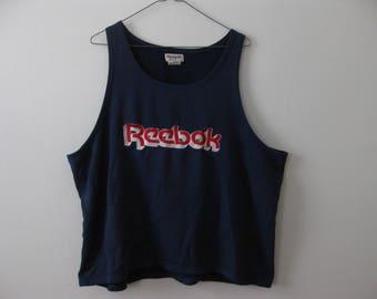 Reebok Vintage 80s 90s Tank Top Shirt Adult Large Medium Wide