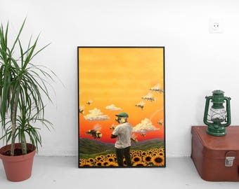 "Tyler The Creator Poster - Tyler Gregory Okonma Rapper - Hip Hop Art Music Print - Flower Boy Album Print - Size 13x20"" 24x36"" #2"