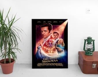 "The Greatest Showman Movie Poster - Michael Gracey Film - With Hugh Jackman, Michelle Williams - Art Print Size 13x20"" 24x36"" 27x40"" 32x48"""