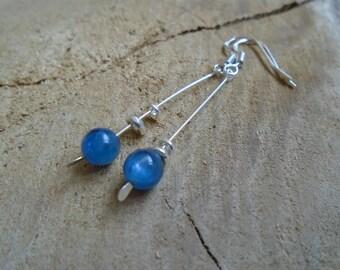 Kyanite and 925 Sterling Silver earrings / / gemstone / / (kyanite or kyanite)