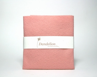 "1 Piece of Pink Pearl Wool Blend Felt 45.6cm x 30.4cm (18"" x 12"")"