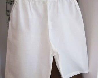 Pants white cotton voile