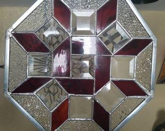 Art Deco Octagon Silver Glossy panel