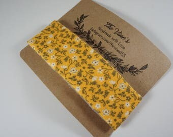 Yellow Gray Flowers Hair Clip