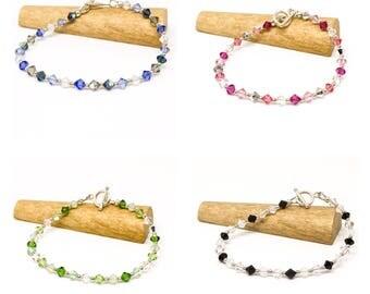 SALE - Sterling silver and Swarovski crystal bracelet