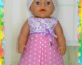 Doll clothes for baby born 43 cm, 3 pcs