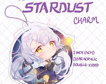 Stardust Charms 2 inch Double-Sided Clear Acrylic [VOCALOID]