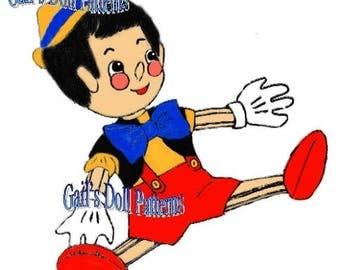 "Vintage 19"" Pinocchio Sewing Pattern"