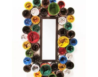Upcycled Paint Pot Mirrors