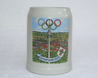 Olympiad Munich 1972-Stein beer 0.5 liter Gerz Germany