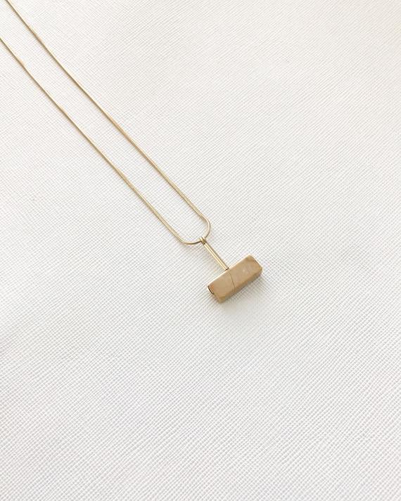 LAZLO necklace -  Golden marble